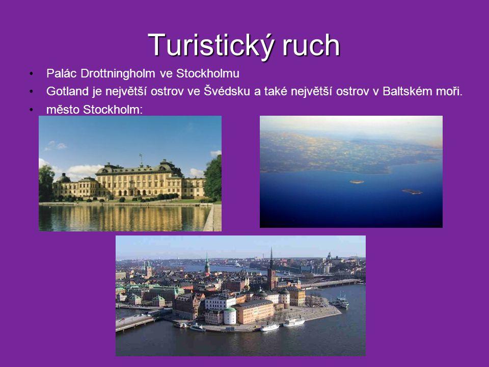 Turistický ruch Palác Drottningholm ve Stockholmu