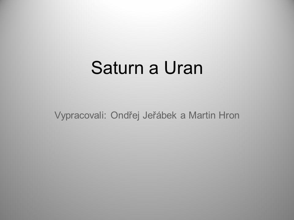 Vypracovali: Ondřej Jeřábek a Martin Hron