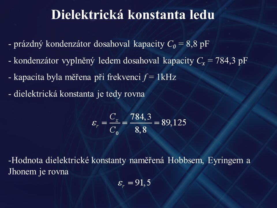 Dielektrická konstanta ledu