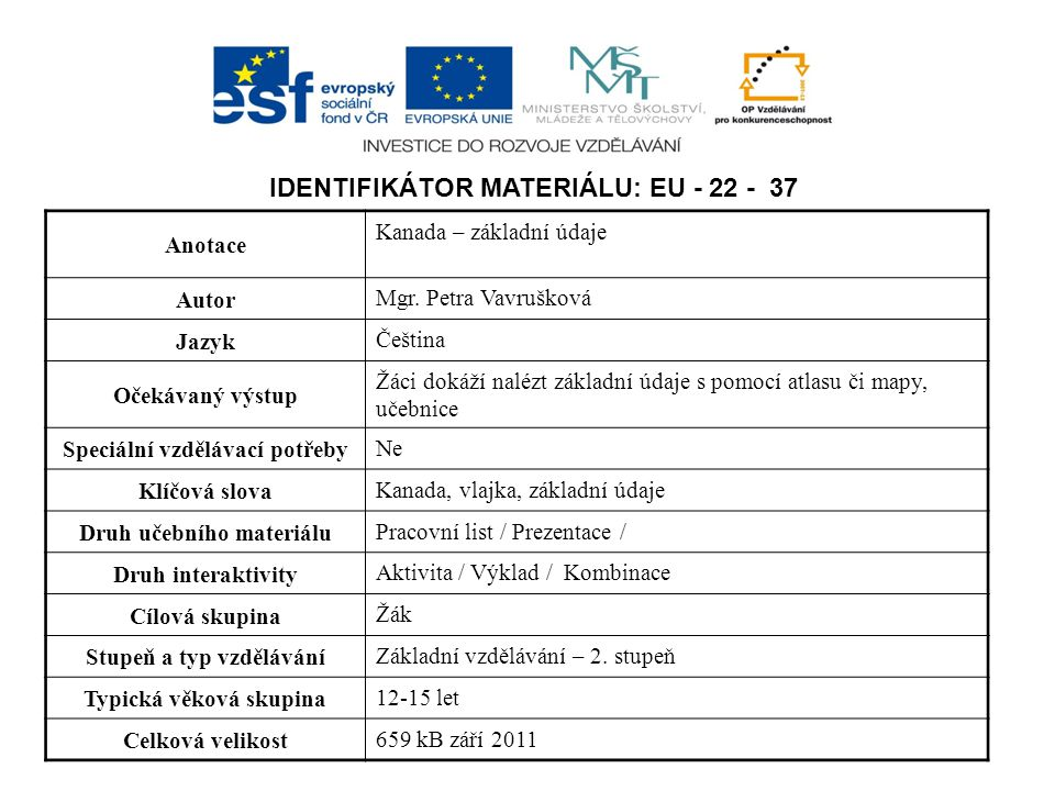 Identifikátor materiálu: EU - 22 - 37