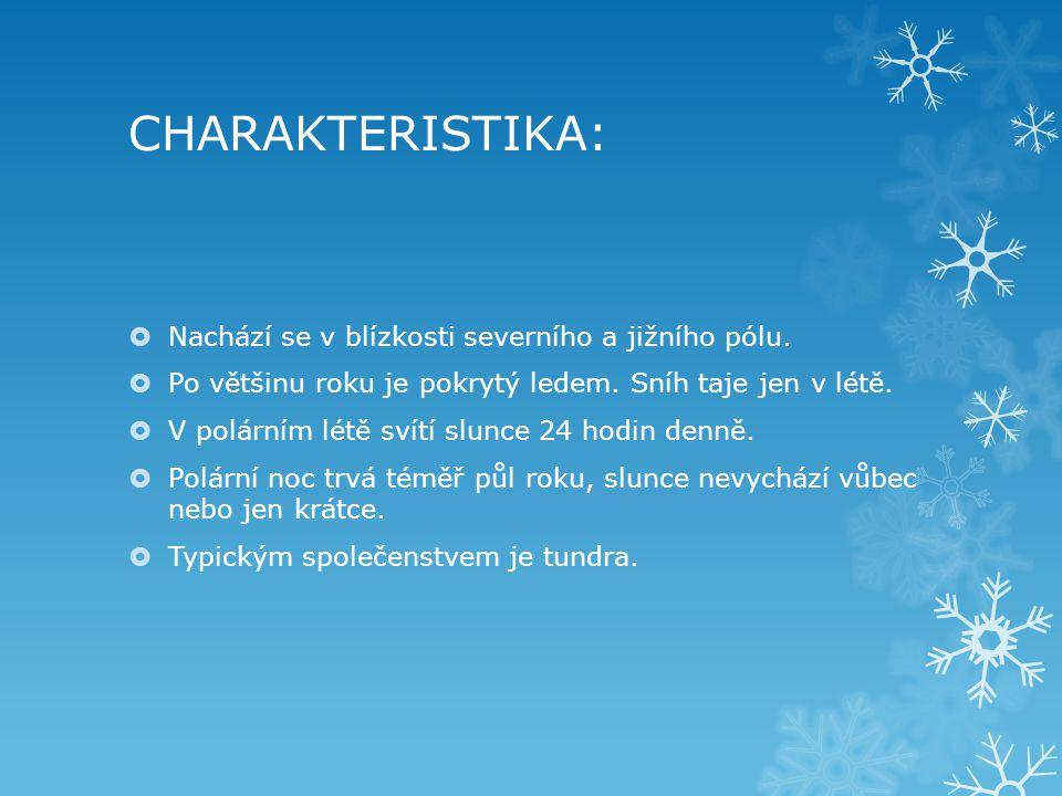 CHARAKTERISTIKA: Nachází se v blízkosti severního a jižního pólu.