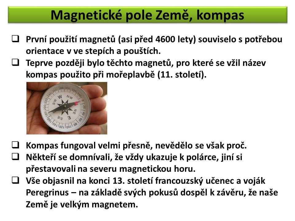 Magnetické pole Země, kompas