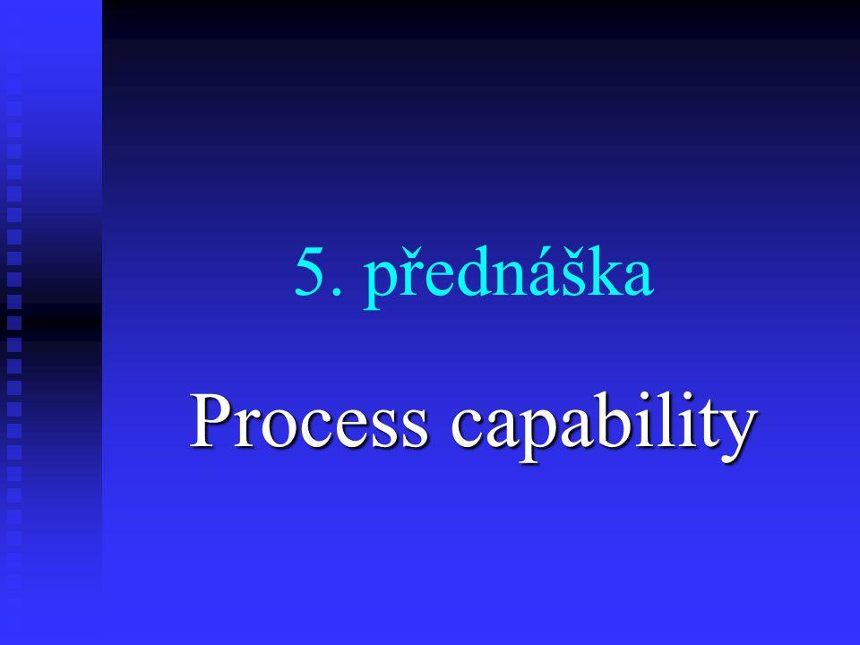 5. přednáška Process capability