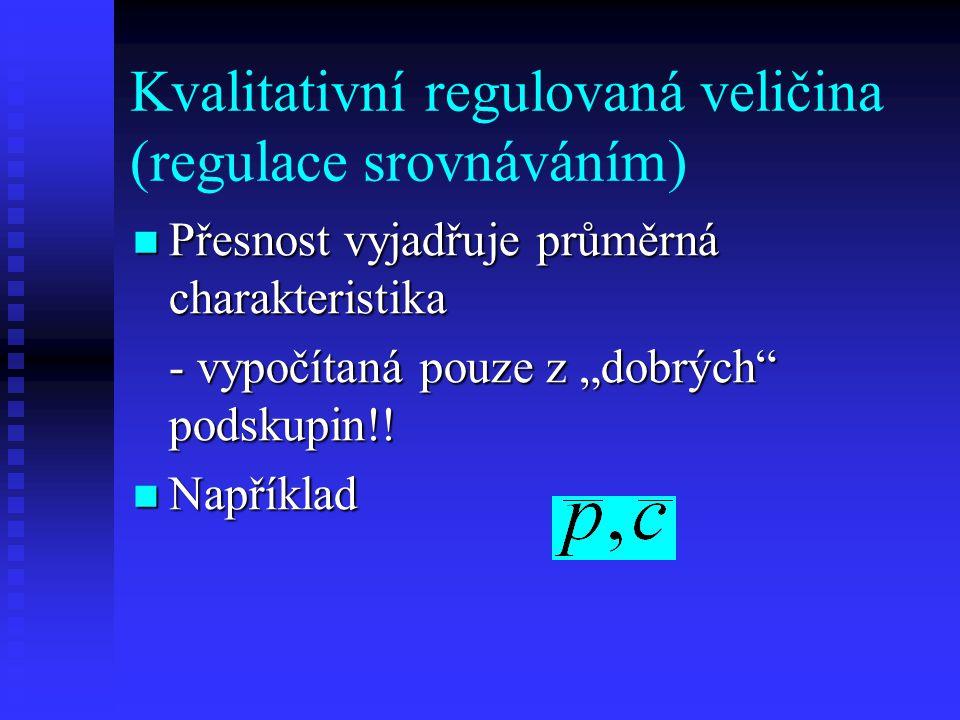 Kvalitativní regulovaná veličina (regulace srovnáváním)