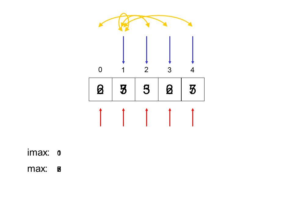 1 2 3 4 2 6 3 5 7 5 3 6 2 7 5 imax: 1 max: 3 5 2 6 7