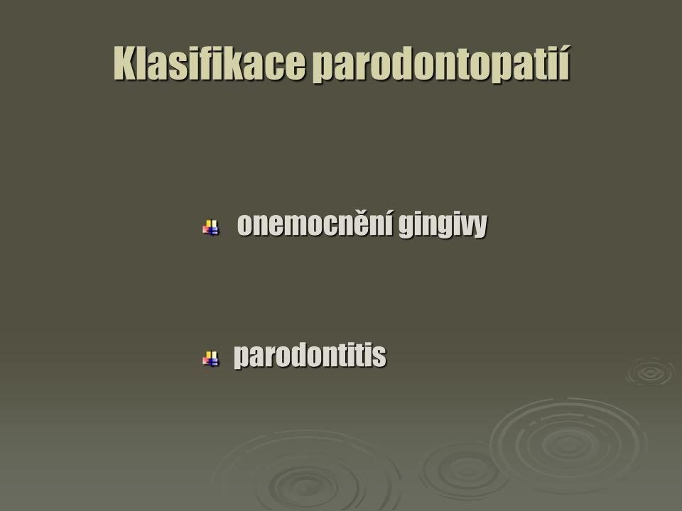Klasifikace parodontopatií