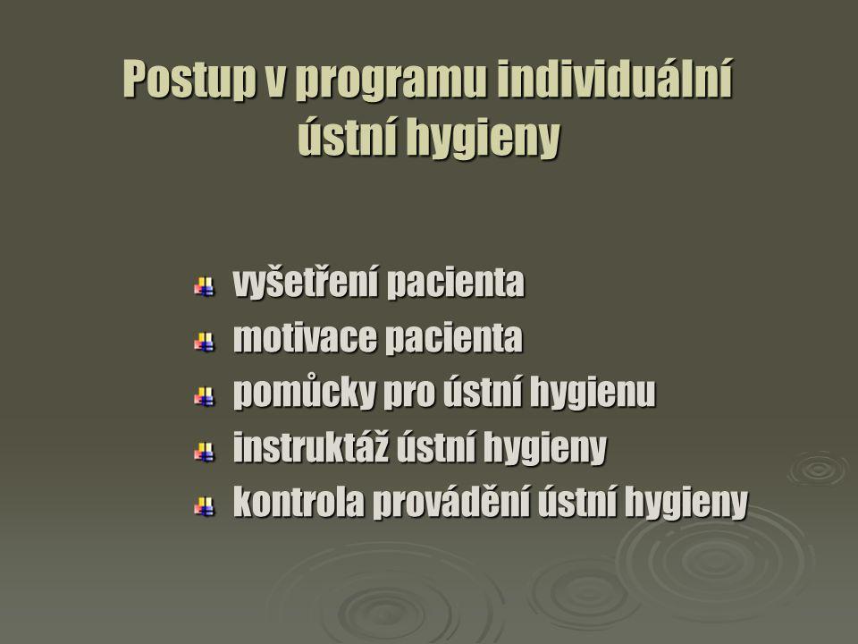 Postup v programu individuální ústní hygieny