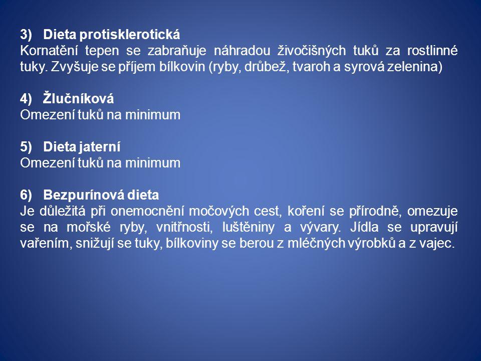 3) Dieta protisklerotická