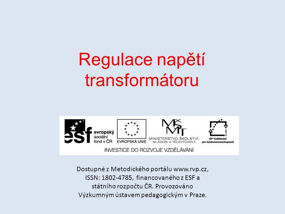 Regulace napětí transformátoru