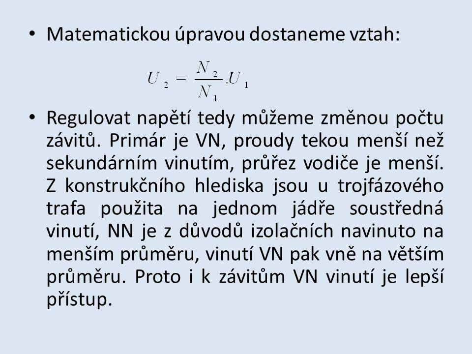 Matematickou úpravou dostaneme vztah: