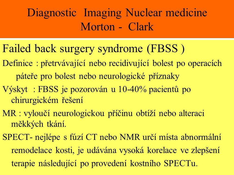 Diagnostic Imaging Nuclear medicine Morton - Clark