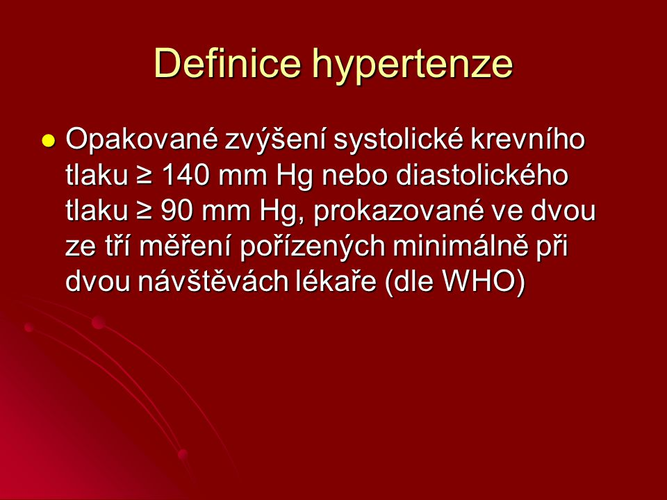 Definice hypertenze