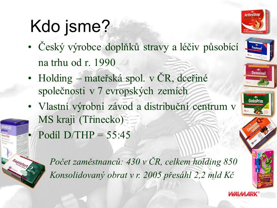 Kdo jsme Český výrobce doplňků stravy a léčiv působící