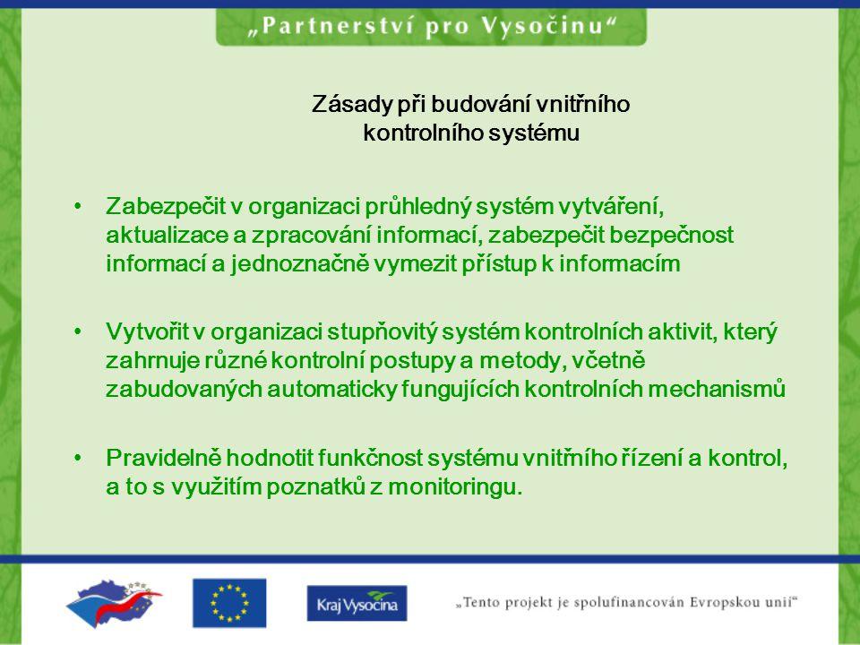 Zásady při budování vnitřního kontrolního systému