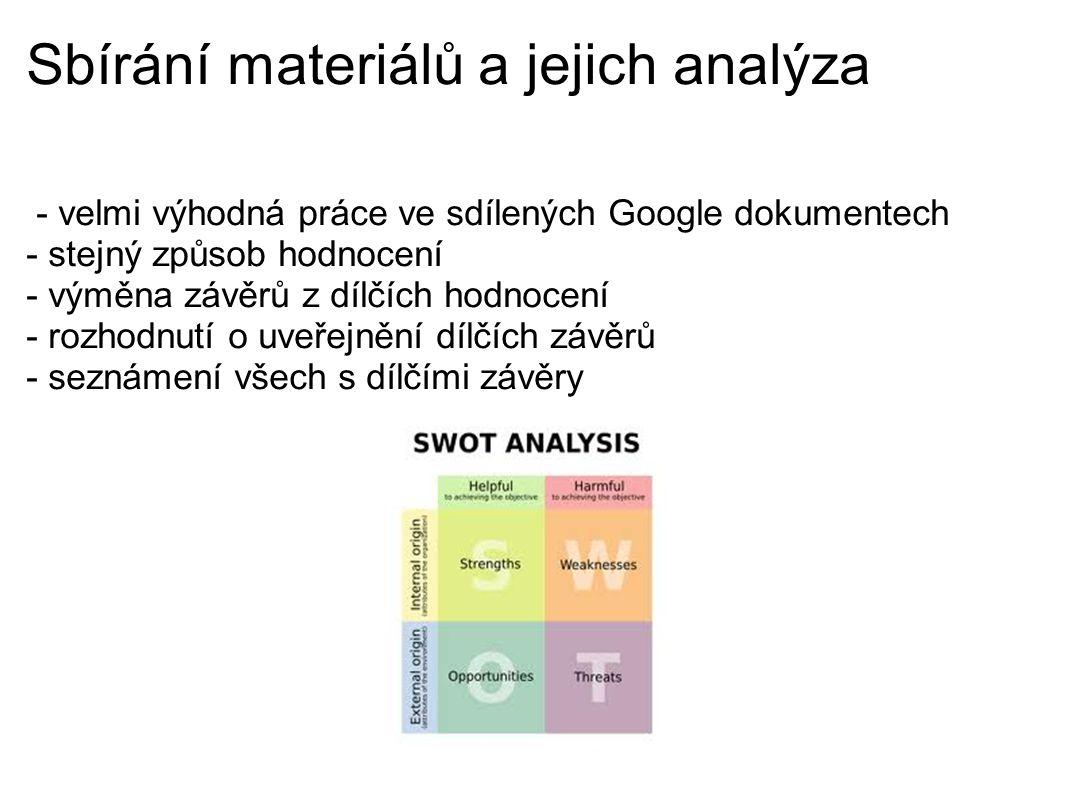 Sbírání materiálů a jejich analýza