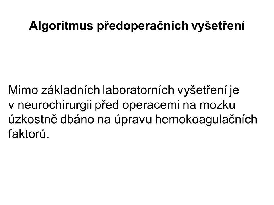 Algoritmus předoperačních vyšetření
