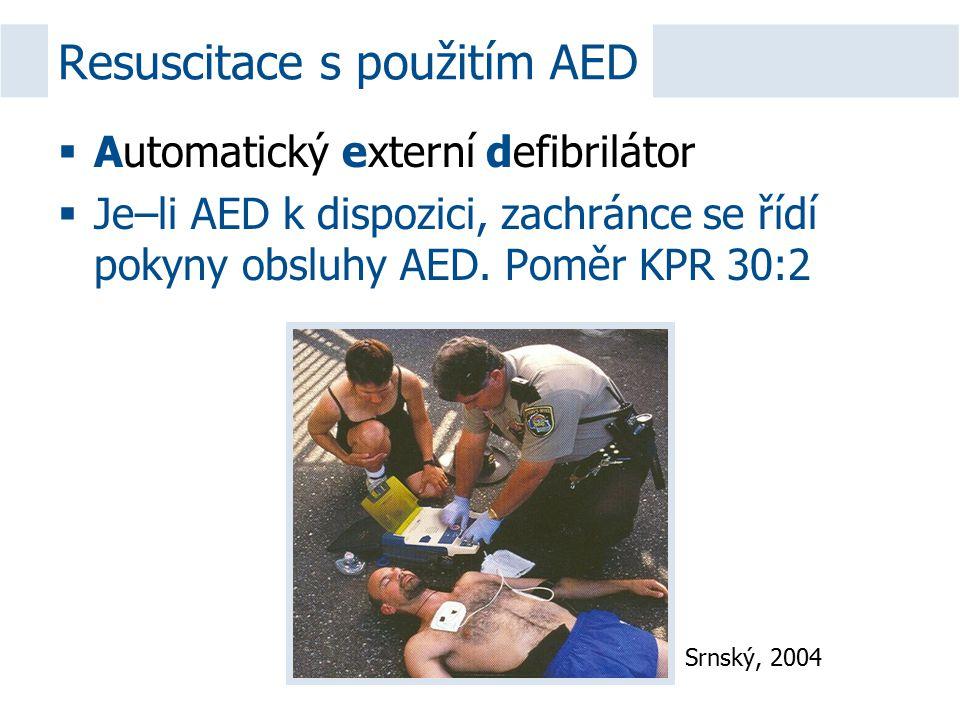 Resuscitace s použitím AED