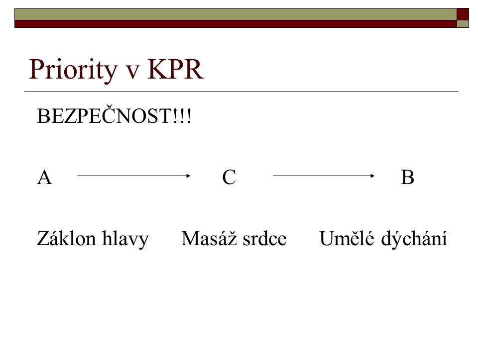 Priority v KPR BEZPEČNOST!!! A C B