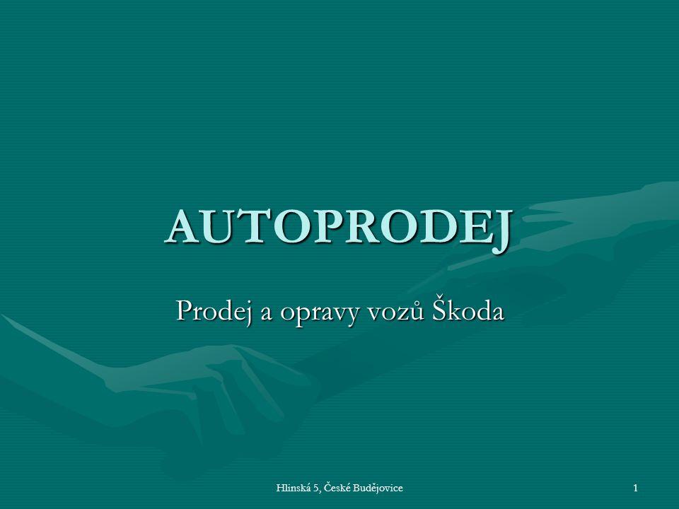 Prodej a opravy vozů Škoda