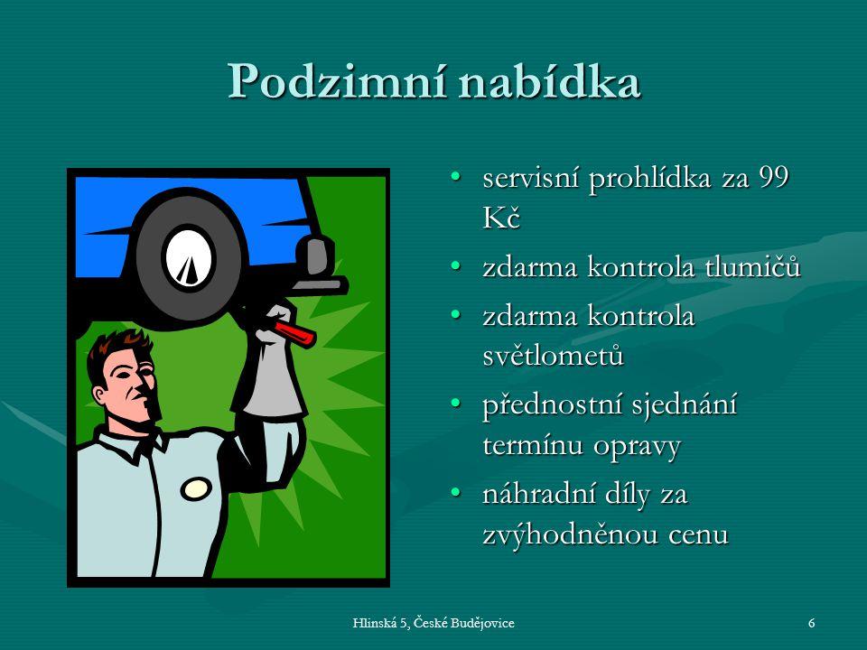 Hlinská 5, České Budějovice