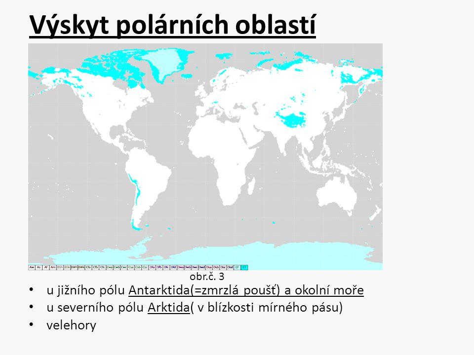 Výskyt polárních oblastí
