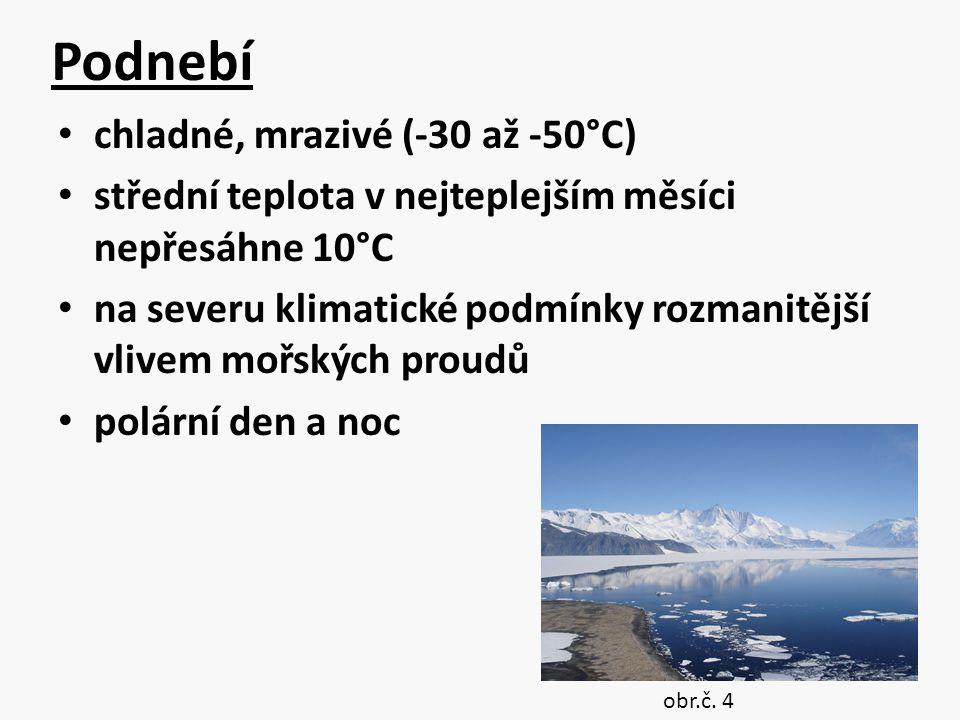 Podnebí chladné, mrazivé (-30 až -50°C)