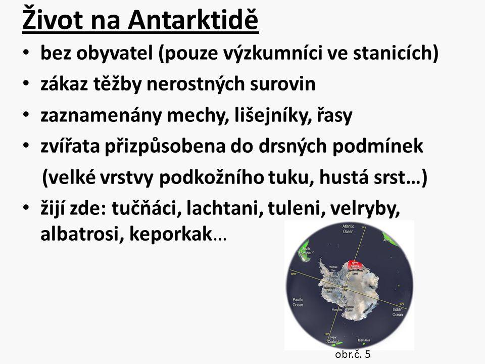 Život na Antarktidě bez obyvatel (pouze výzkumníci ve stanicích)