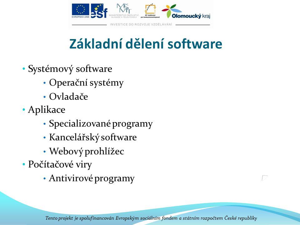 Základní dělení software