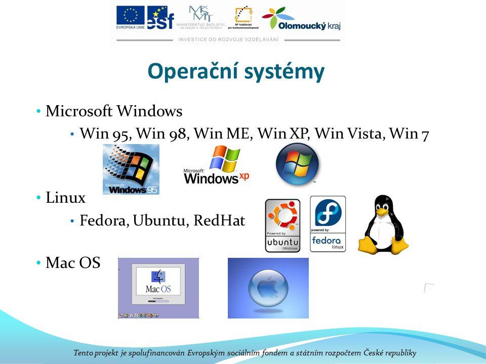 Operační systémy Microsoft Windows Linux Mac OS