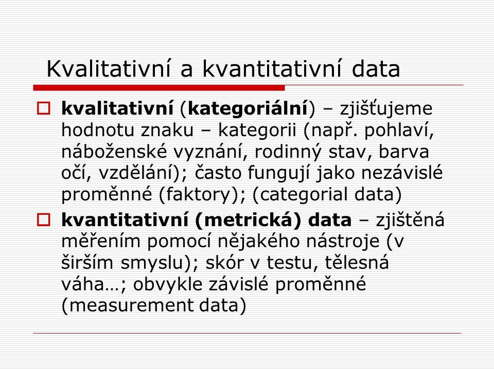 Kvalitativní a kvantitativní data