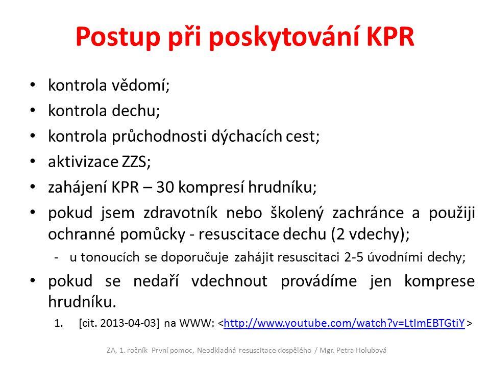 Postup při poskytování KPR