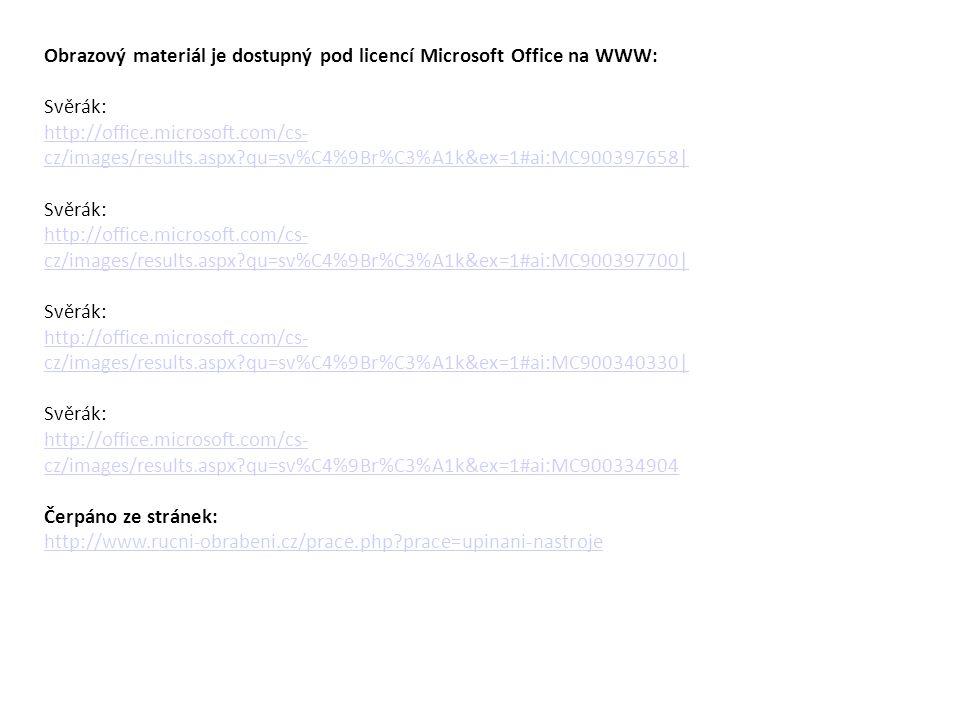 Obrazový materiál je dostupný pod licencí Microsoft Office na WWW: