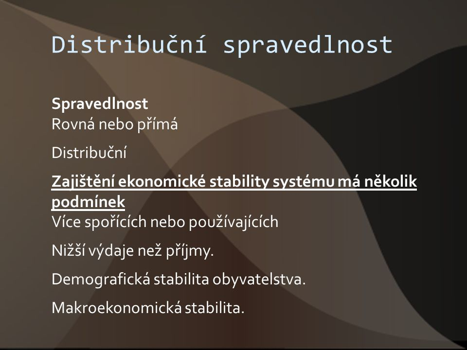 Distribuční spravedlnost