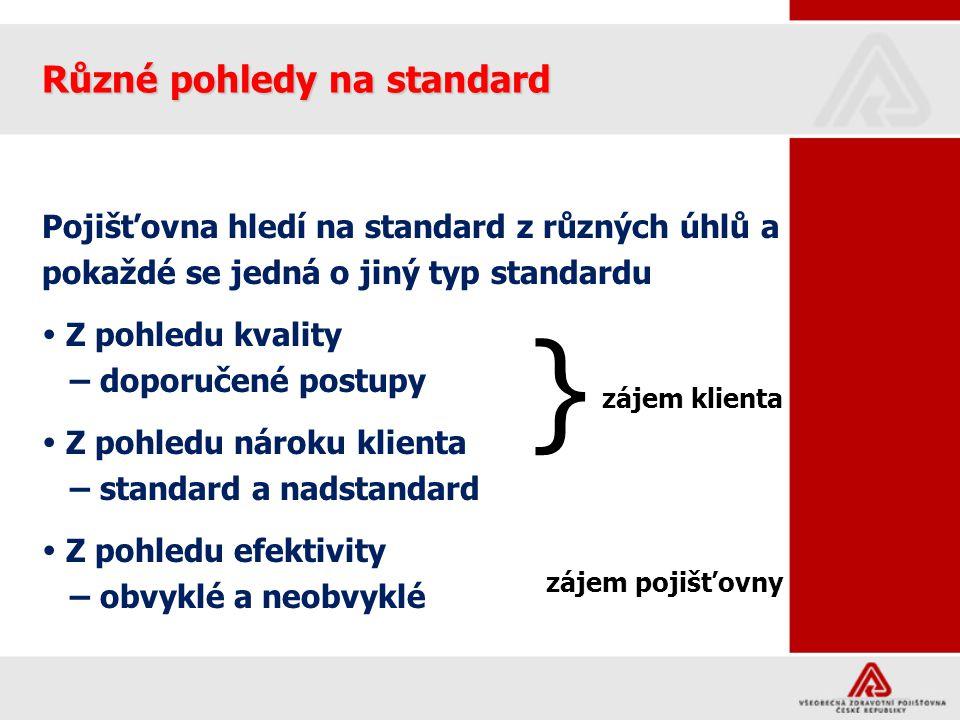 } Různé pohledy na standard