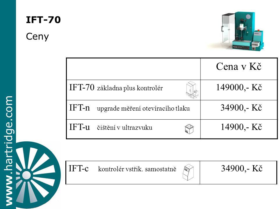 Cena v Kč IFT-70 Ceny IFT-70 základna plus kontrolér 149000,- Kč