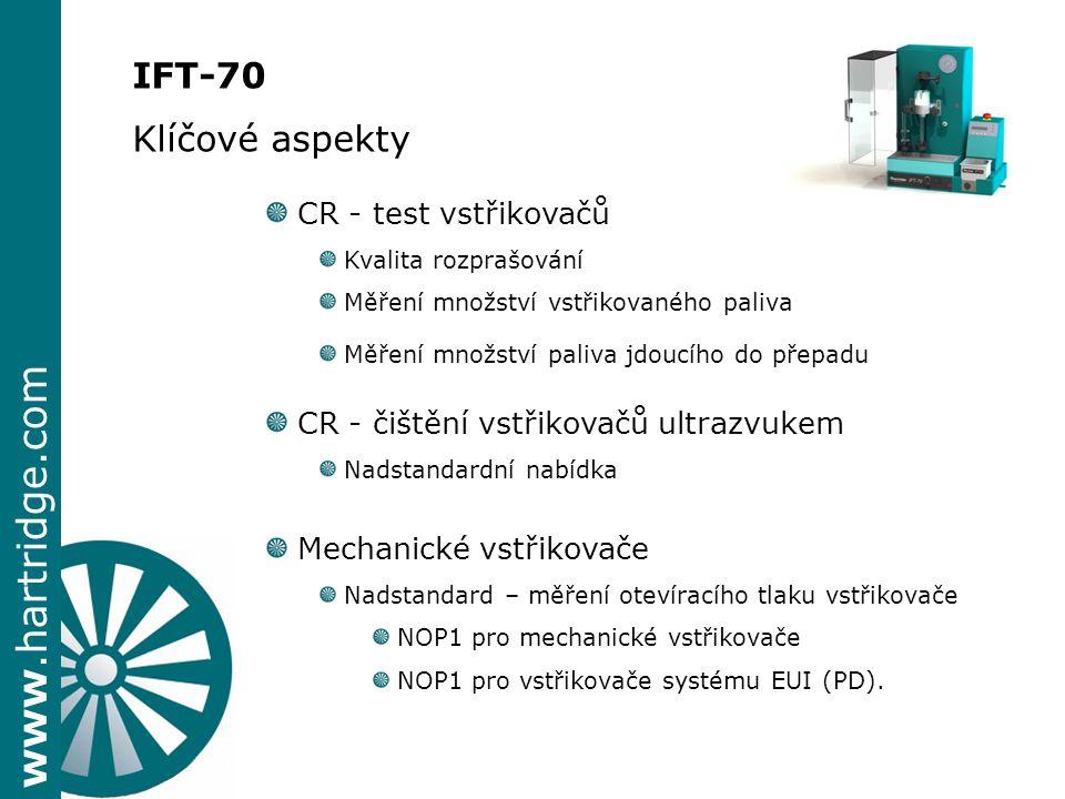 IFT-70 Klíčové aspekty CR - test vstřikovačů