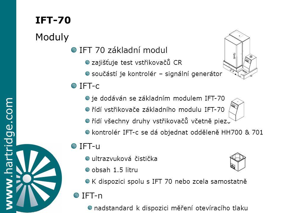 IFT-70 Moduly IFT 70 základní modul IFT-c IFT-u IFT-n