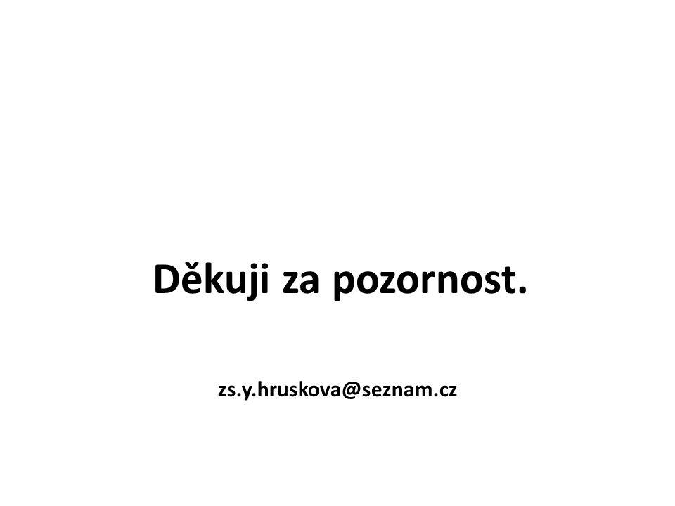 Děkuji za pozornost. zs.y.hruskova@seznam.cz