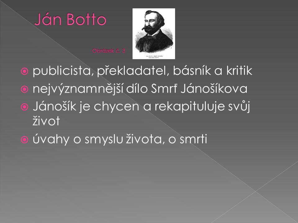 Ján Botto Obrázek č. 3 publicista, překladatel, básník a kritik