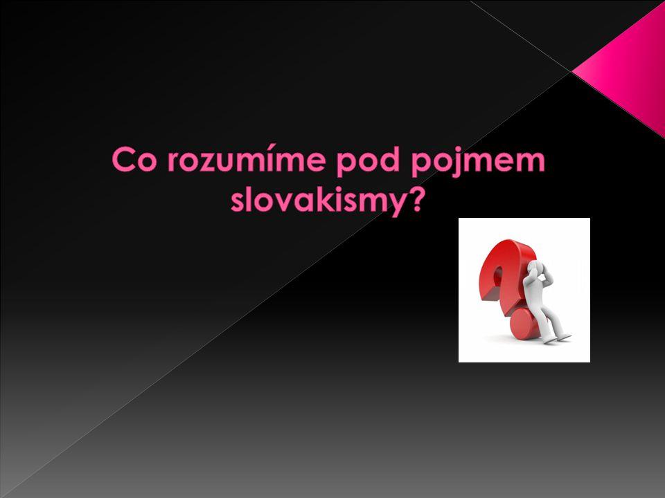 Co rozumíme pod pojmem slovakismy
