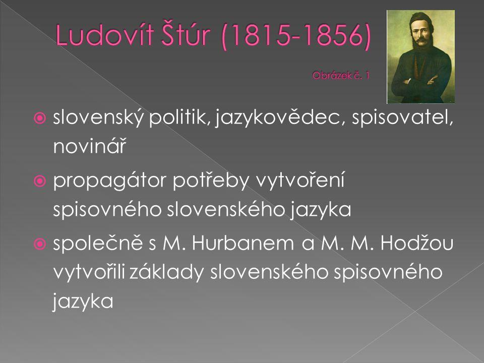 Ludovít Štúr (1815-1856) Obrázek č. 1