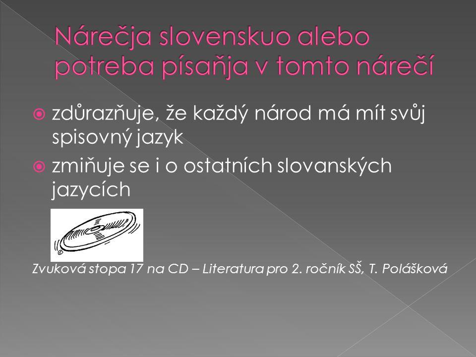 Nárečja slovenskuo alebo potreba písaňja v tomto nárečí