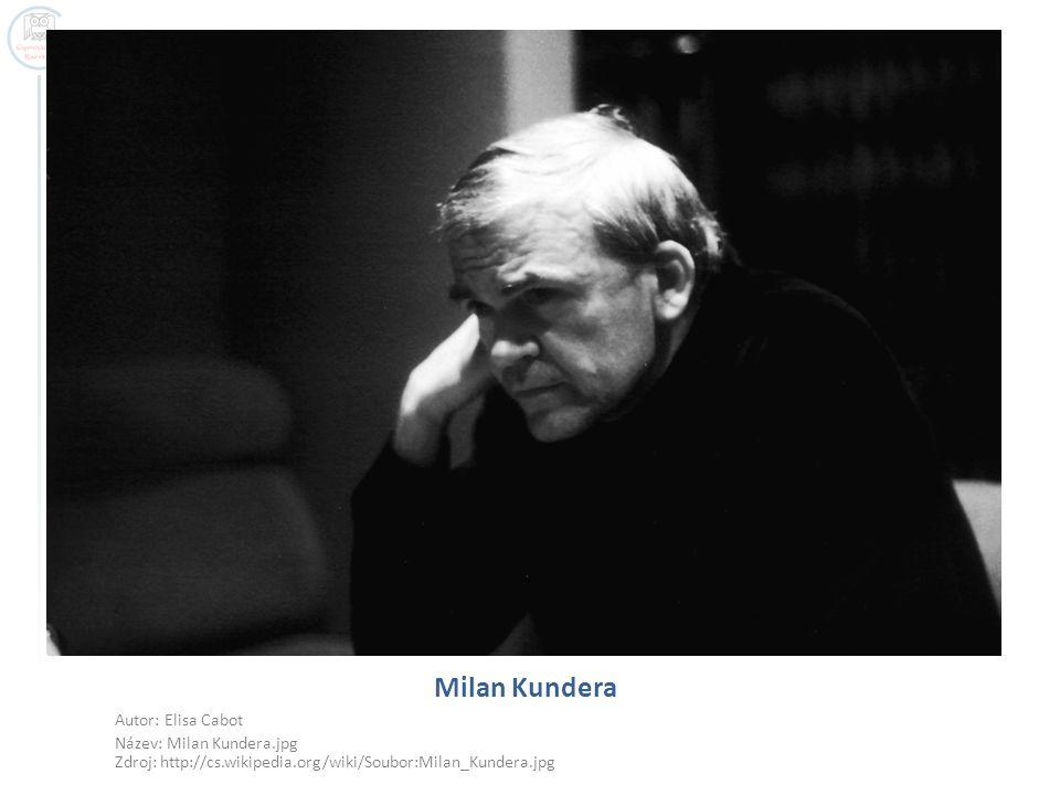 Milan Kundera Autor: Elisa Cabot