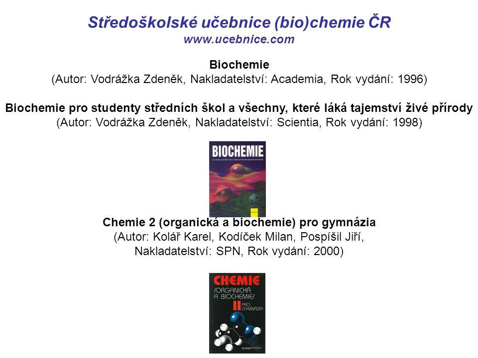 Středoškolské učebnice (bio)chemie ČR