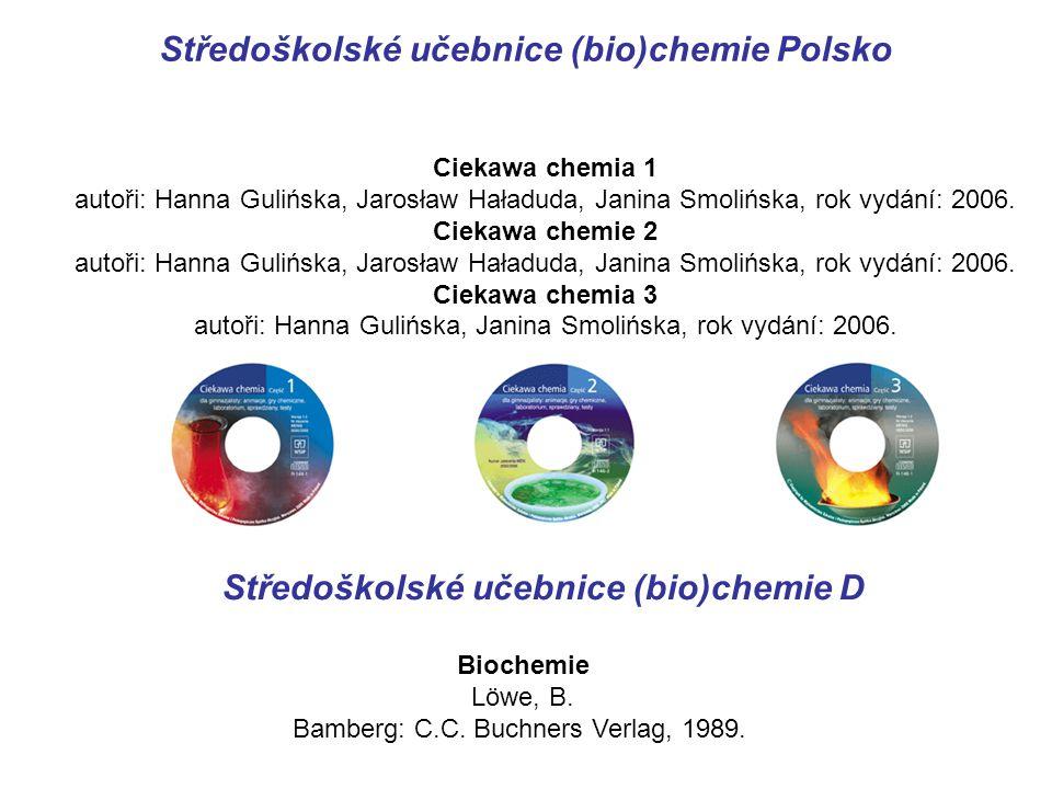 Středoškolské učebnice (bio)chemie Polsko