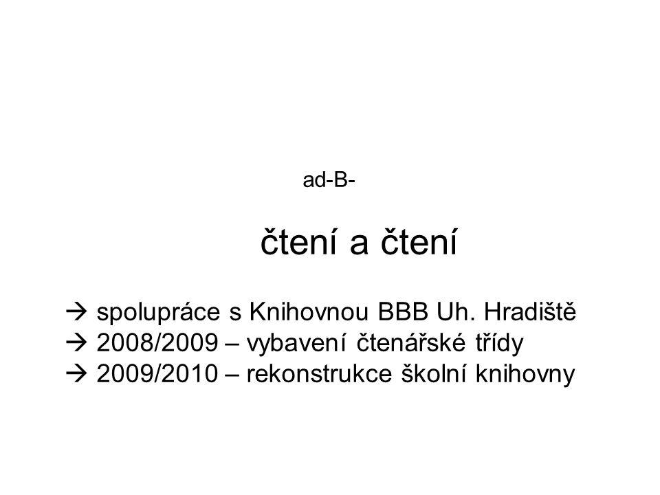 ad-B- čtení a čtení  spolupráce s Knihovnou BBB Uh.