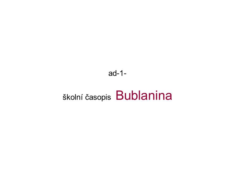 ad-1- školní časopis Bublanina