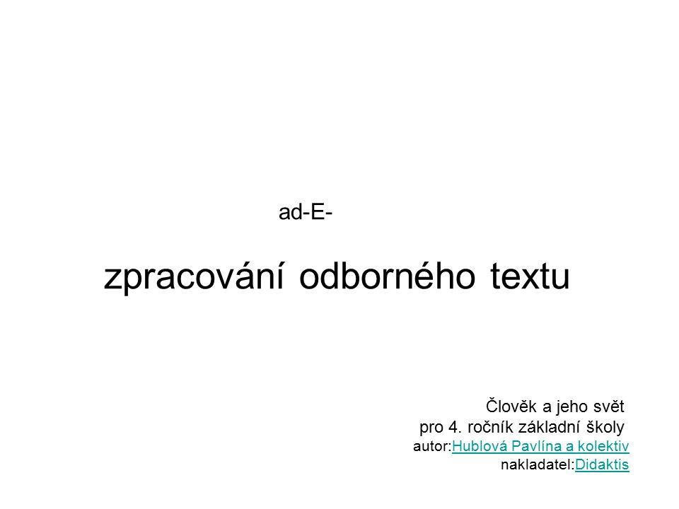 ad-E- zpracování odborného textu