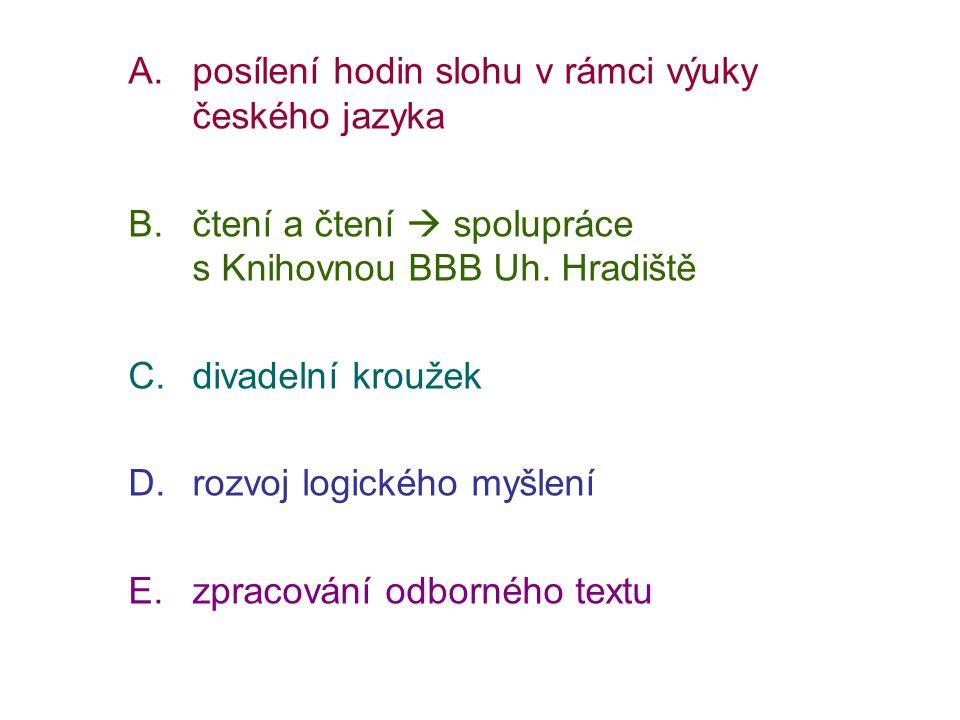 posílení hodin slohu v rámci výuky českého jazyka