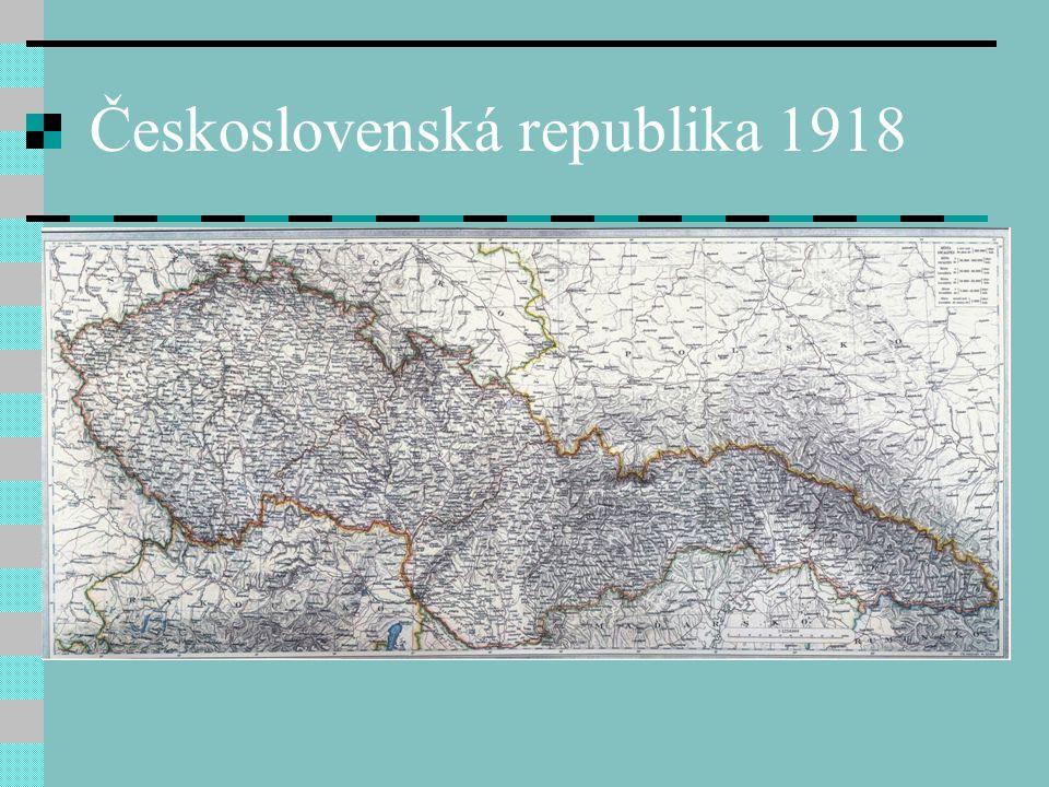 Československá republika 1918